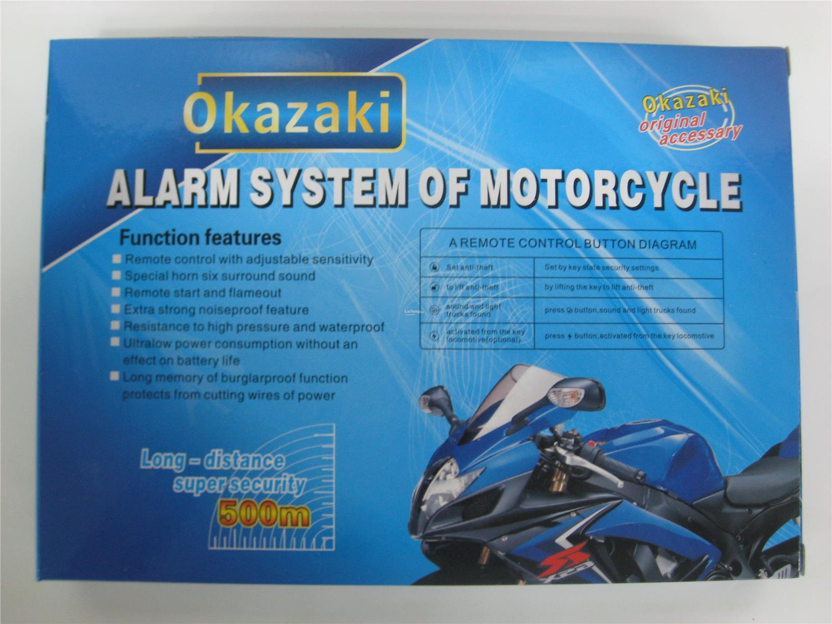 Okazaki Motorcycle Advance Alarm Sys (end 2/17/2017 5:15 PM)