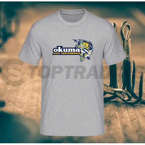 okuma logo. okuma limited fishing logo t-shirt cs-304