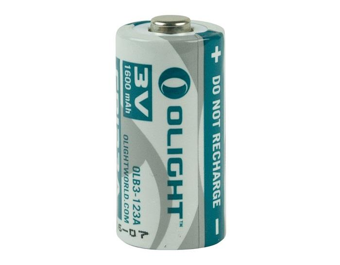 Olight CR123 CR123A 1600mAh Lithium Battery (3V)