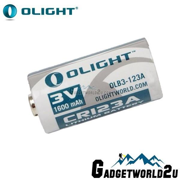 Olight CR123 CR123A 3.0V 1600mAh Primary Lithium Battery (OLB2-123A)
