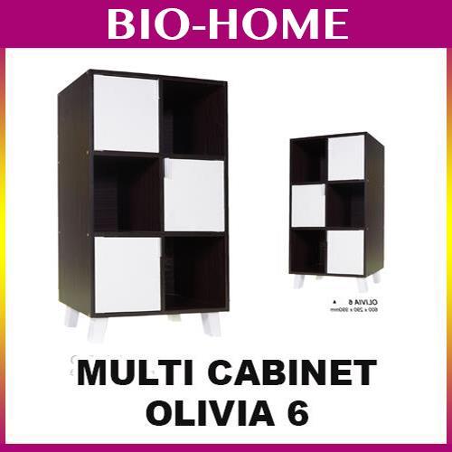 OLIVIA 6 CUBES OFFICE BOOKSHELVES CABINET DISPAY IKEA STYLE WOODEN. U2039 U203a