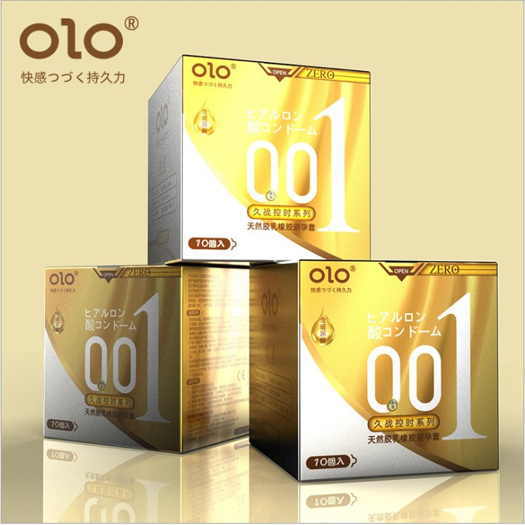 OLO 10pcs Hyaluronic Acid Delay Condom