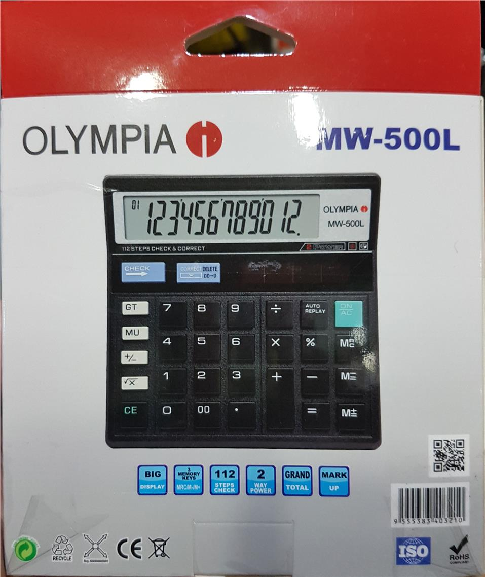 OLYMPIA 12 DIGIT 2 WAY POWER CALCULATOR (MW-500L)