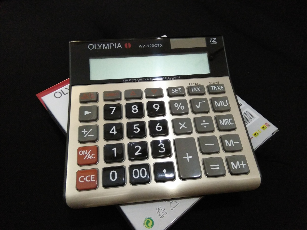 Olympia Electronic Calculator Tax Function Series WZ-120CTX