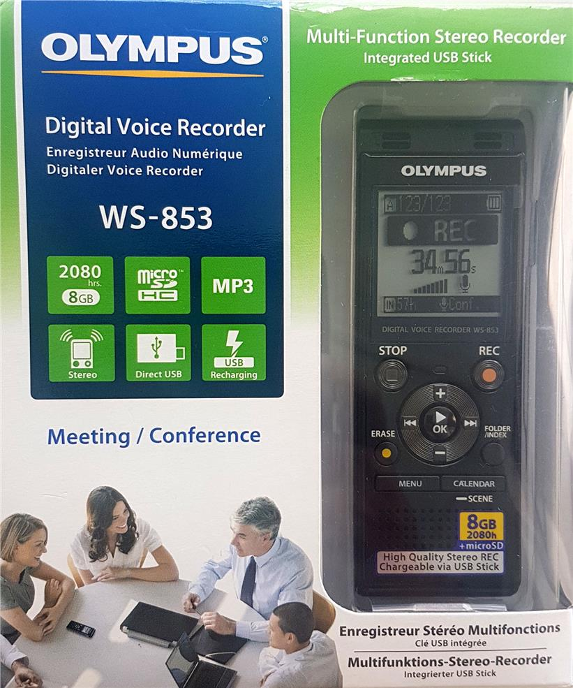 OLYMPUS  DIGITAL VOICE RECORDER 8GB WS-853