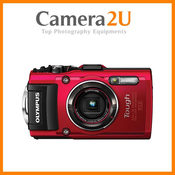 Olympus Tough TG-4 Waterproof Camera Red