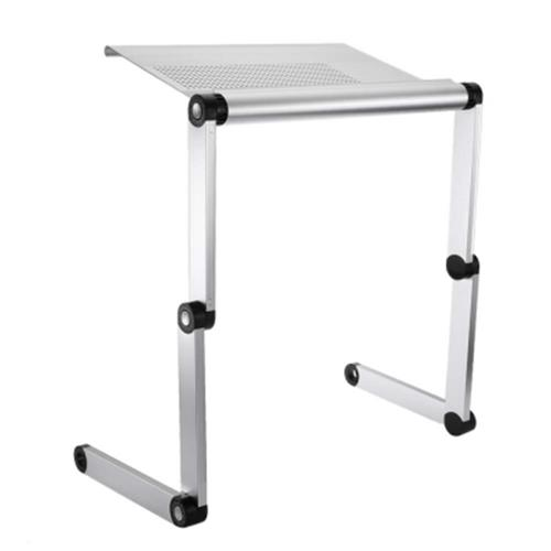 OMAX A6 ADJUSTABLE HEIGHT LAPTOP DESK NOTEBOOK TABLE WITH VENTED STAND  (SILVER