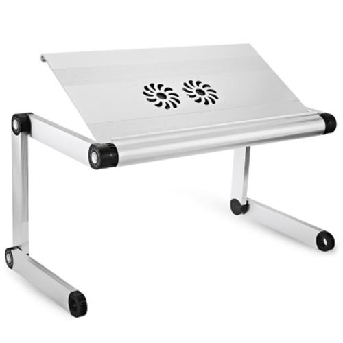 OMAX A7L ADJUSTABLE HEIGHT LAPTOP DESK NOTEBOOK TABLE WITH VENTED STAND  (WHITE. U2039 U203a