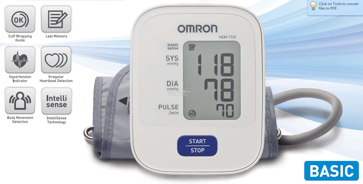 Omron Automatic Blood Pressure Mon End 12162020 1200 Am