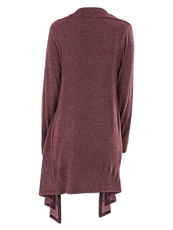 One Buttoned Overlap Asymmetrical Longline Plus Size Top (Dull Purple)