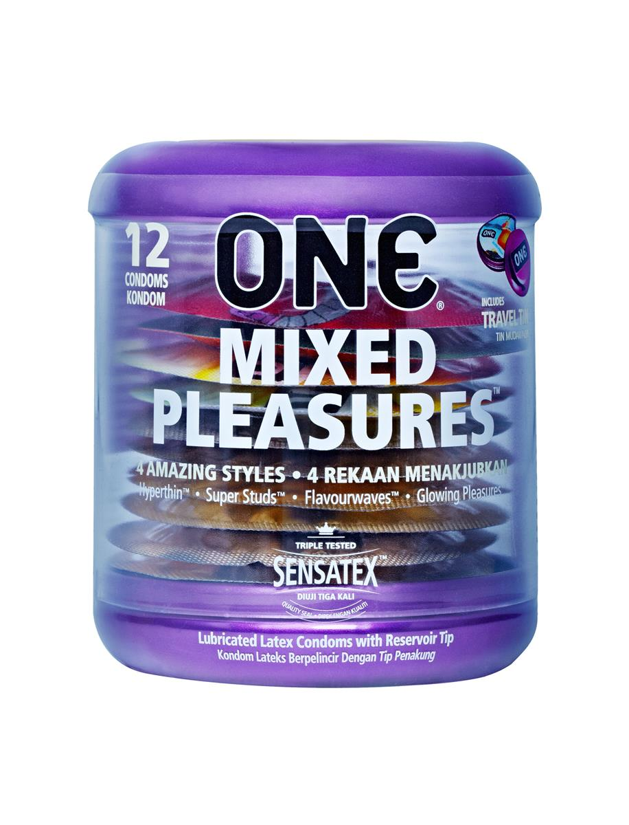 One Mixed Pleasures Condoms 12s + One Super Studs Condoms 12s