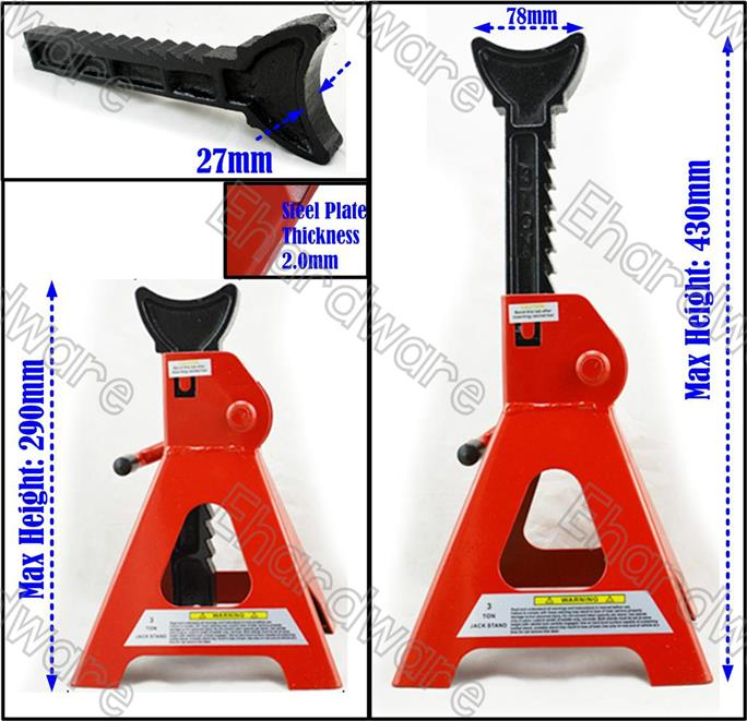 One Pair 3Ton Under Car Jack Stand 2Pcs (JS00002)