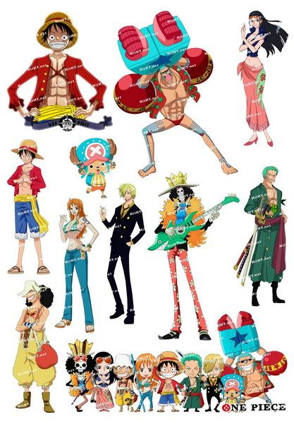 ONE PIECE A4 Size Luggage Laptop Phone Sticker LS 012