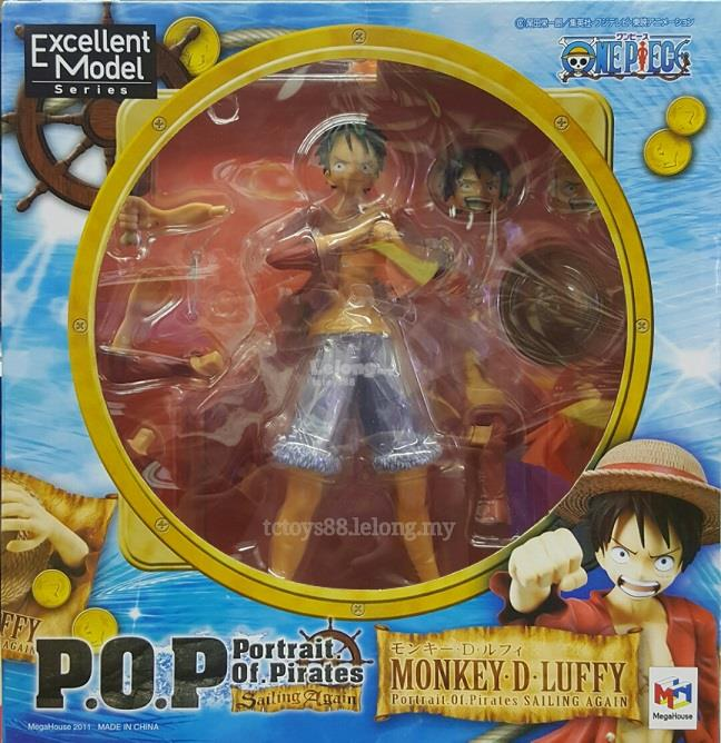 One Piece Action Figure P.O.P. Monkey D. Luffy. Excellent Model. 21CM.