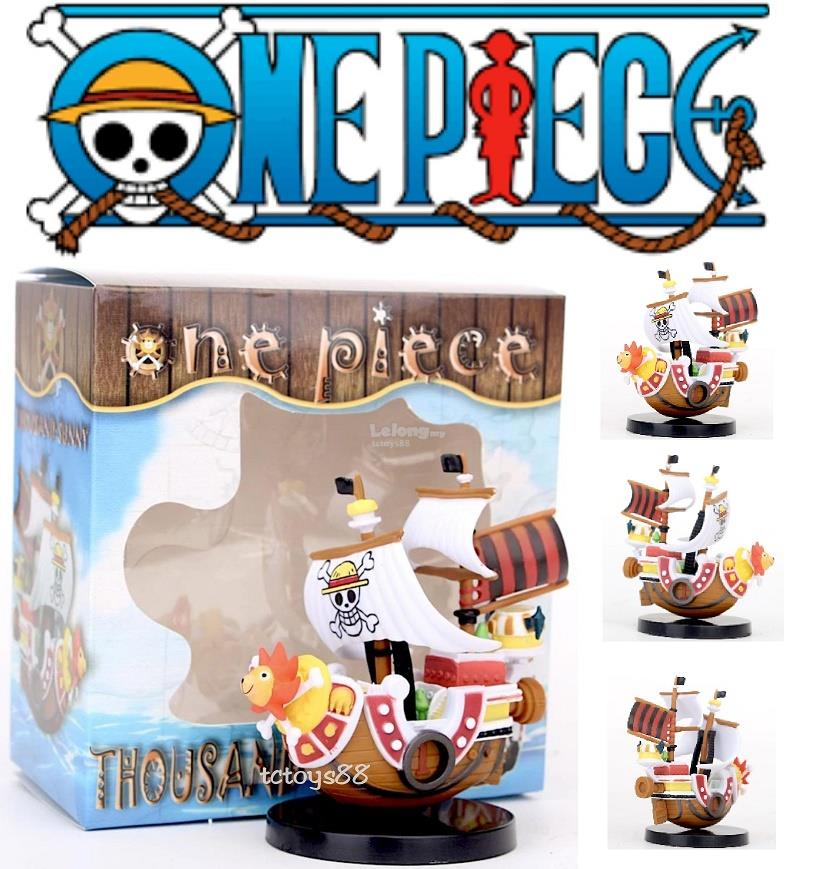 ONE PIECE FIGURES THOUSAND SUNNY SHIP MODEL ONE PIECE MINI PIRATE SHIP