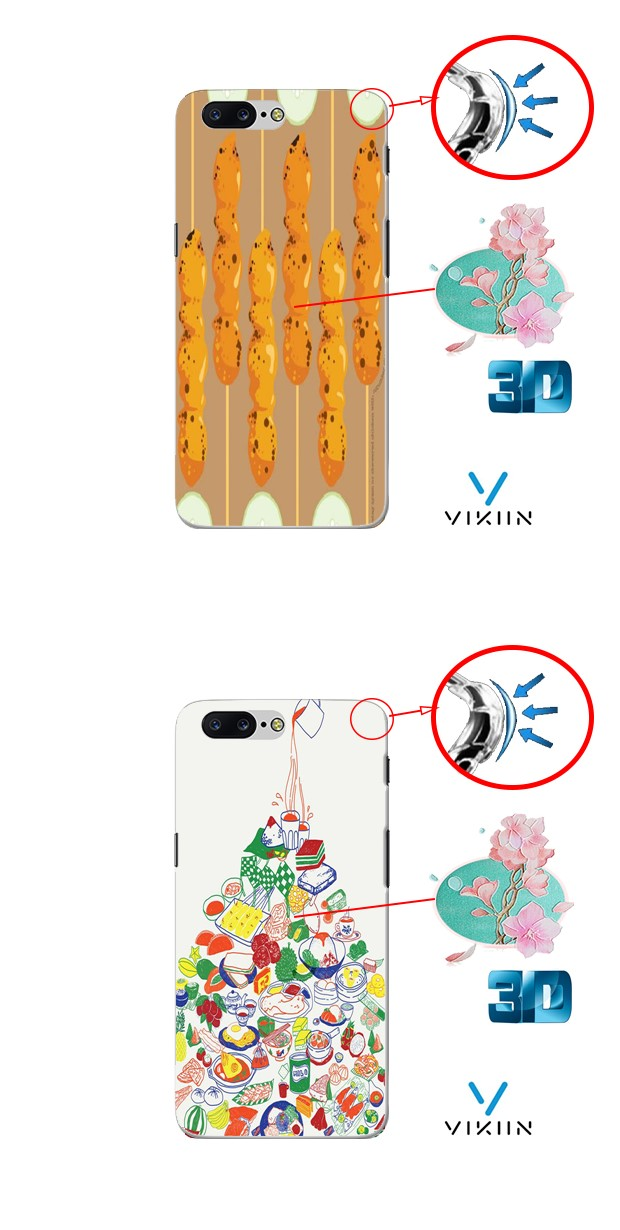 One Plus 5 1+5 Armor DIY Case Casing Cover Food Cuisine Customize