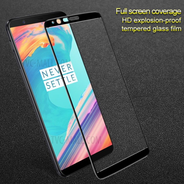 One Plus 5T 1+5T Full Cover Tempered Glass Screen Protector-Black
