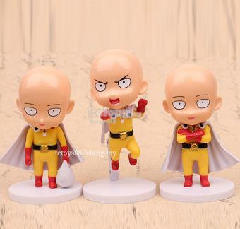 One Punch Man Figurine. Saitama Figure / Cake topper. 3pcs set.