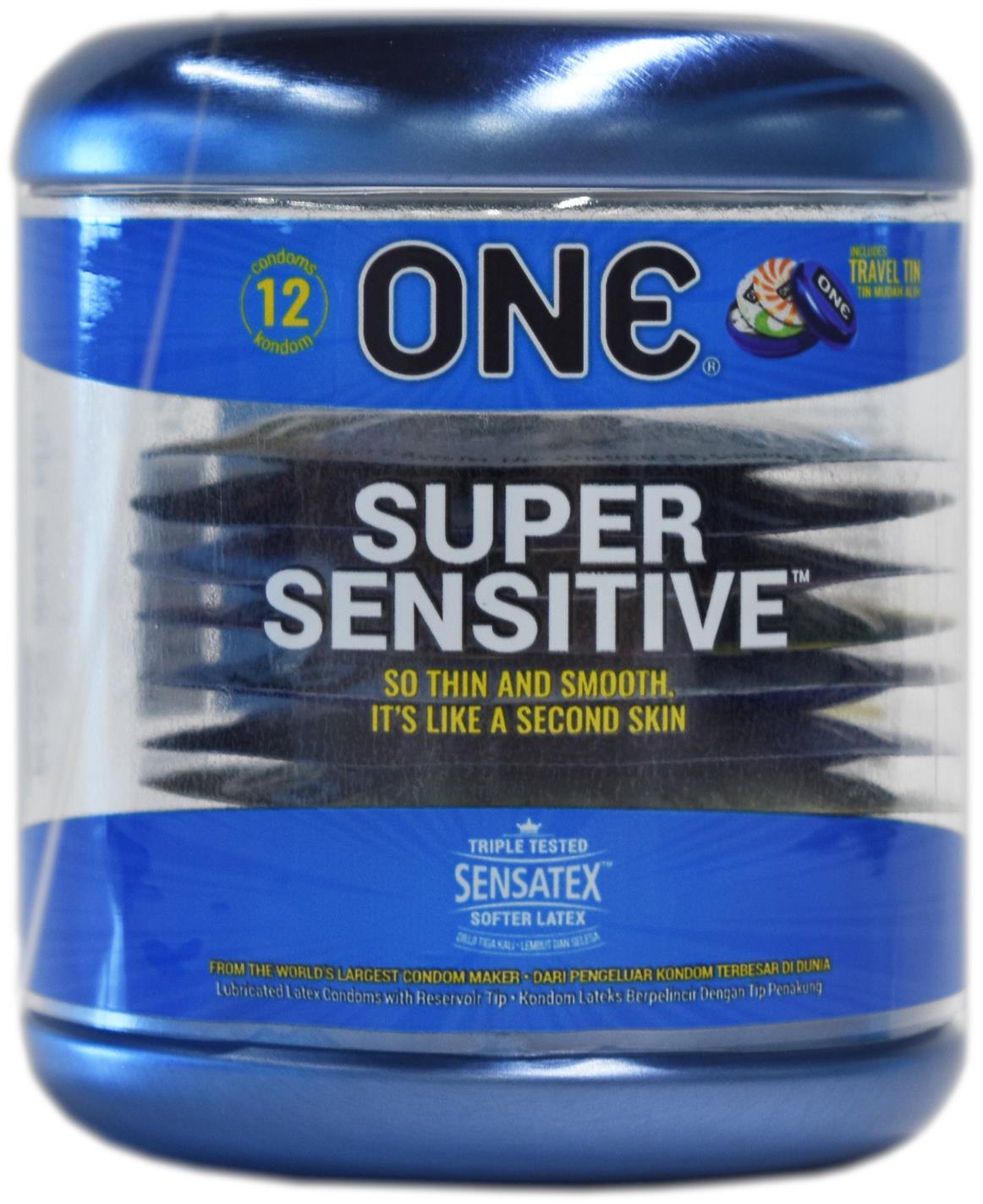 One Super Sensitive Condoms 12s X 2