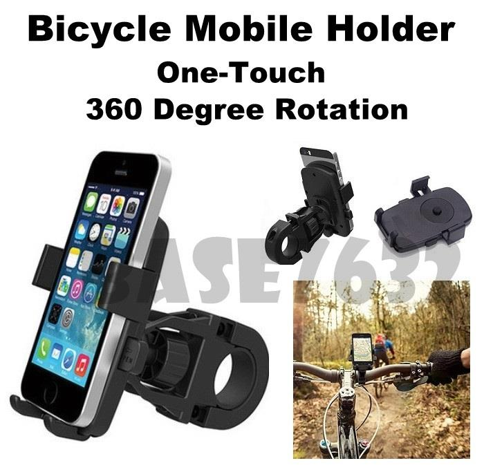 One Touch Motorcycle Bicycle Mobile Phone Mount Holder Bracket