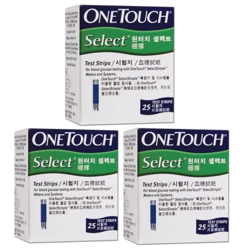 One touch select test strips 3X25S FOC 100 LANCET