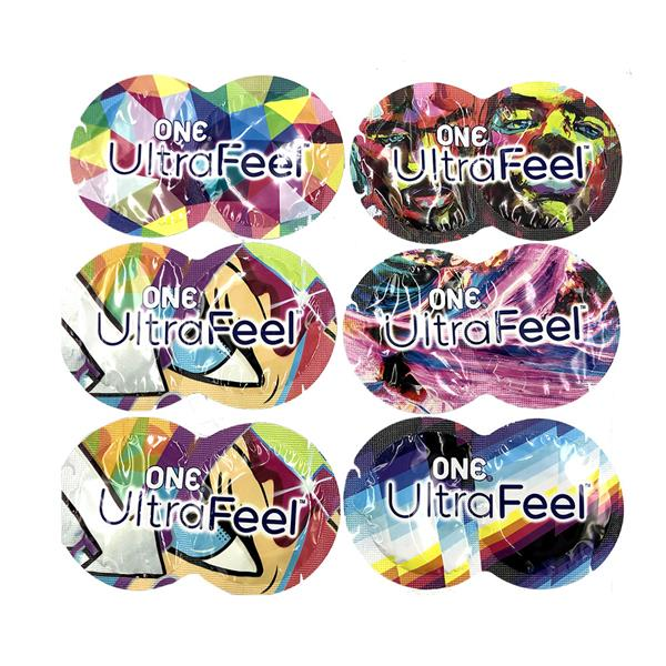 One Ultra Feel 12pc Ultra Thin Condoms + Sex Lube + FREE BAG