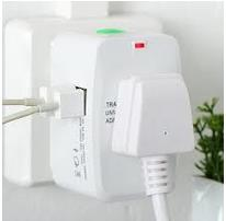 All in One Universal Travel Adapter Dual Port USB Charger Wall Plug