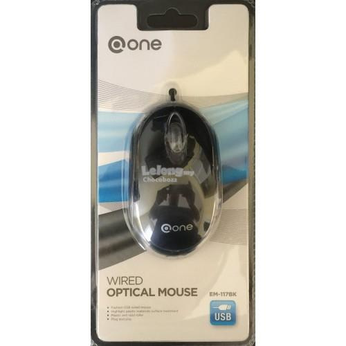 @ONE WIRED OPTICAL MOUSE (EM-117)