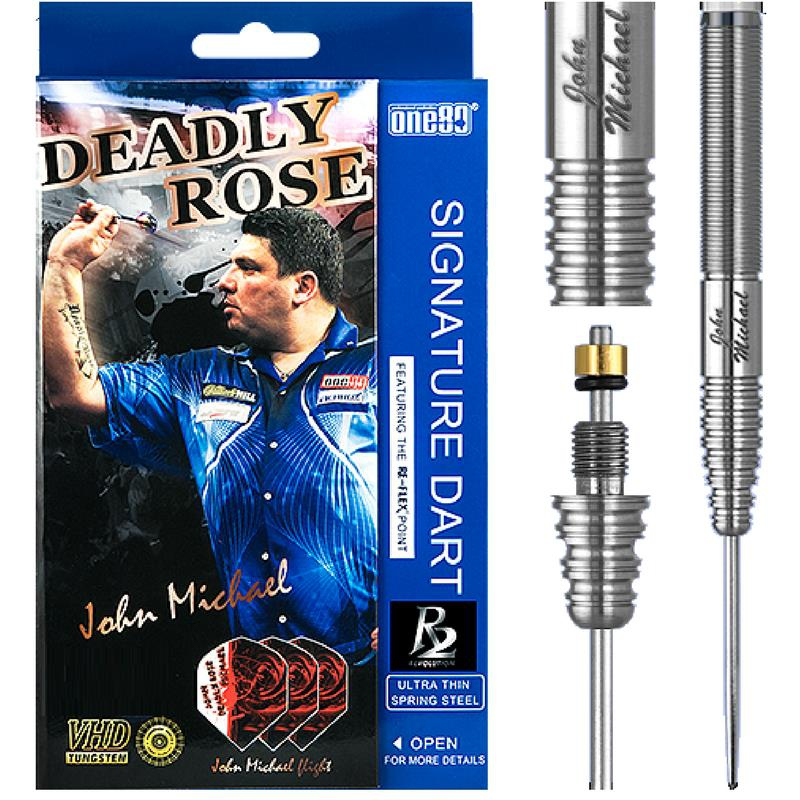 ONE80 John Miechael (Deadly Rose) R2 Steel Tip Dart - with Replaceable