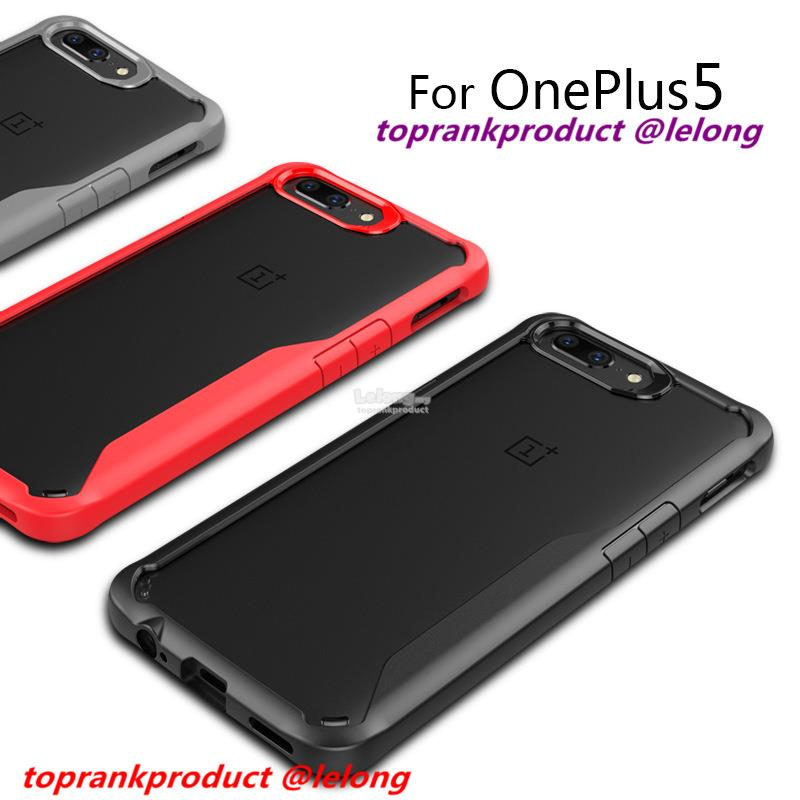 OnePlus 5 1+5 ShakeProof Transparent Back Armor Case Cover Casing