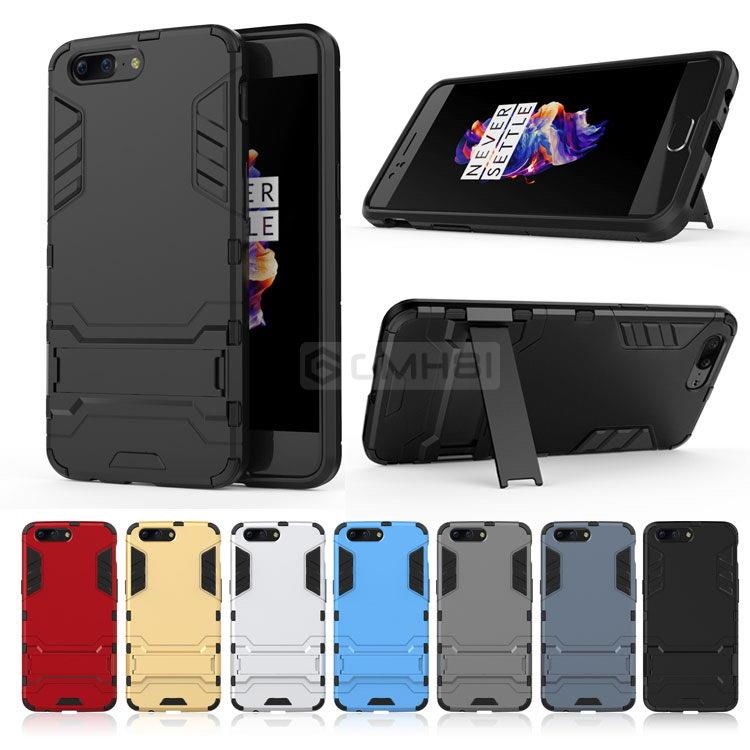 huge selection of f1844 99eed OnePlus 5 3T 3 Ironman Rugged Tough Armor Standable Bumper Cover Case
