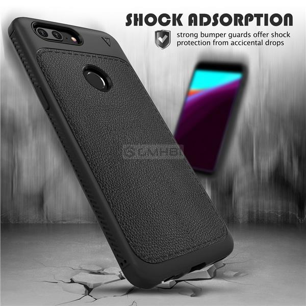 separation shoes 44b31 1879f OnePlus 5T LENUO Rugged Tough Slim Armor TPU Bumper Cover Case