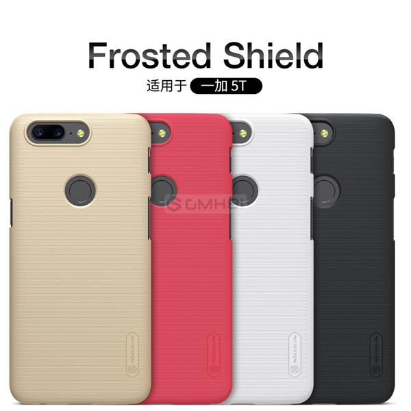 on sale a4896 22602 OnePlus 5T Nillkin Super FROSTED Shield Hard PC Back Cover Case