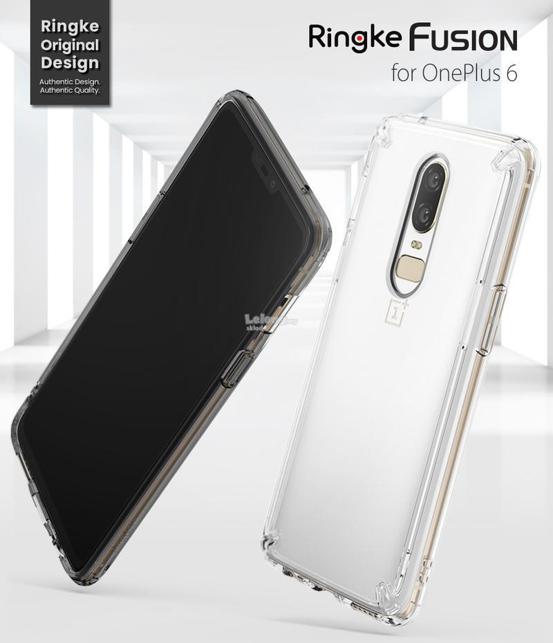 the latest d2649 d584d OnePlus 6 / 1+6 Case, Upgraded Version Ringke Fusion Case