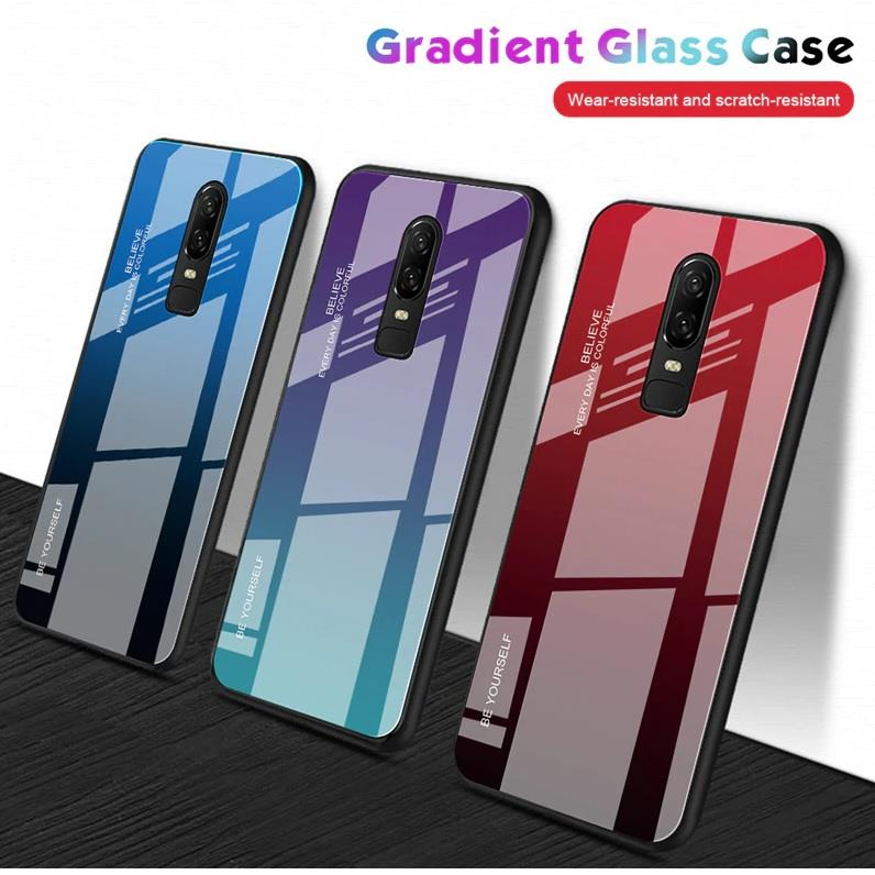 the latest f3c95 32861 OnePlus 6 6T Gradient Tempered Glass Case Cover
