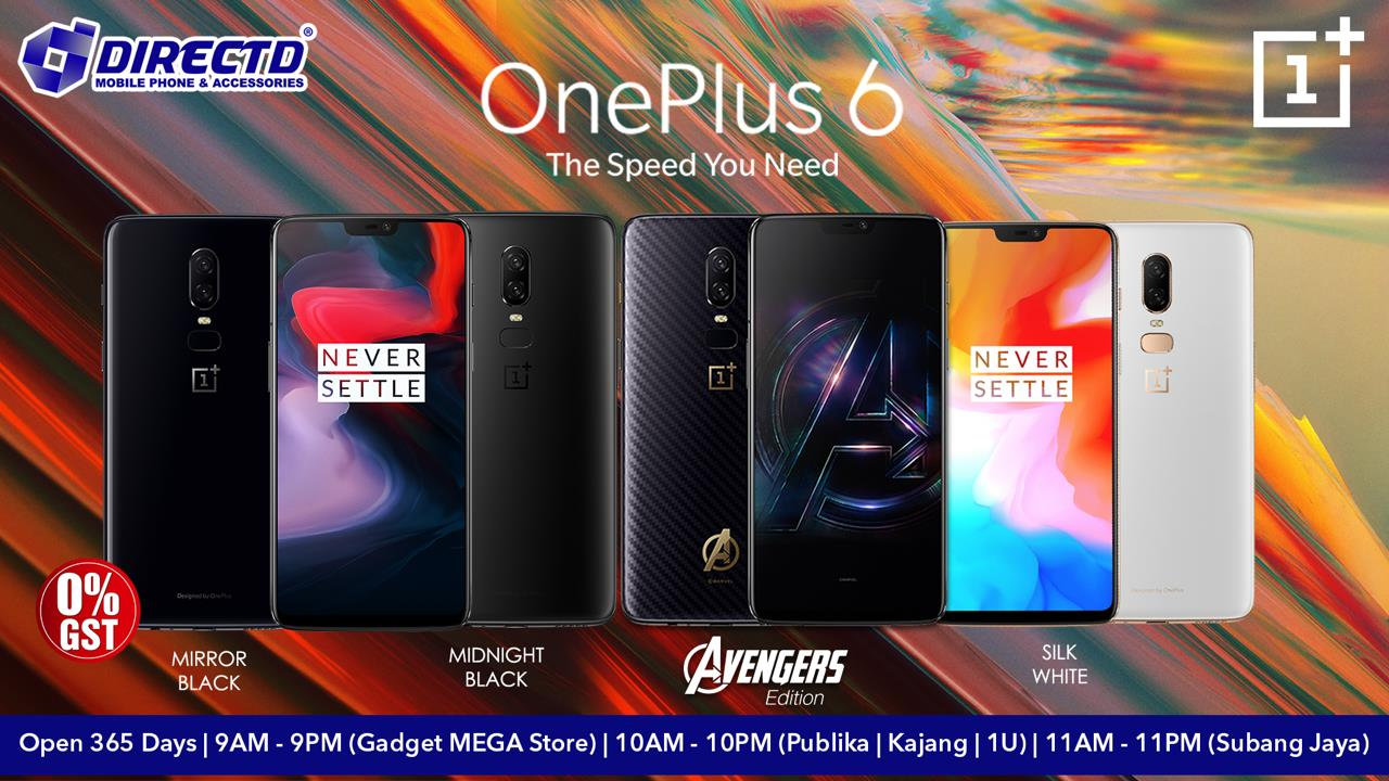 ONEPLUS 6 -AVAILABLE IN CHINA | INTERNATIONAL VERSION | AVENGERS