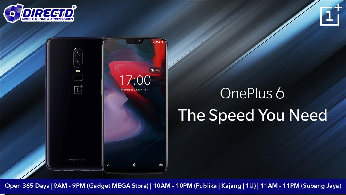 ONEPLUS 6 (ORIGINAL SET) + FREE DirectD's Exclusive gift pack