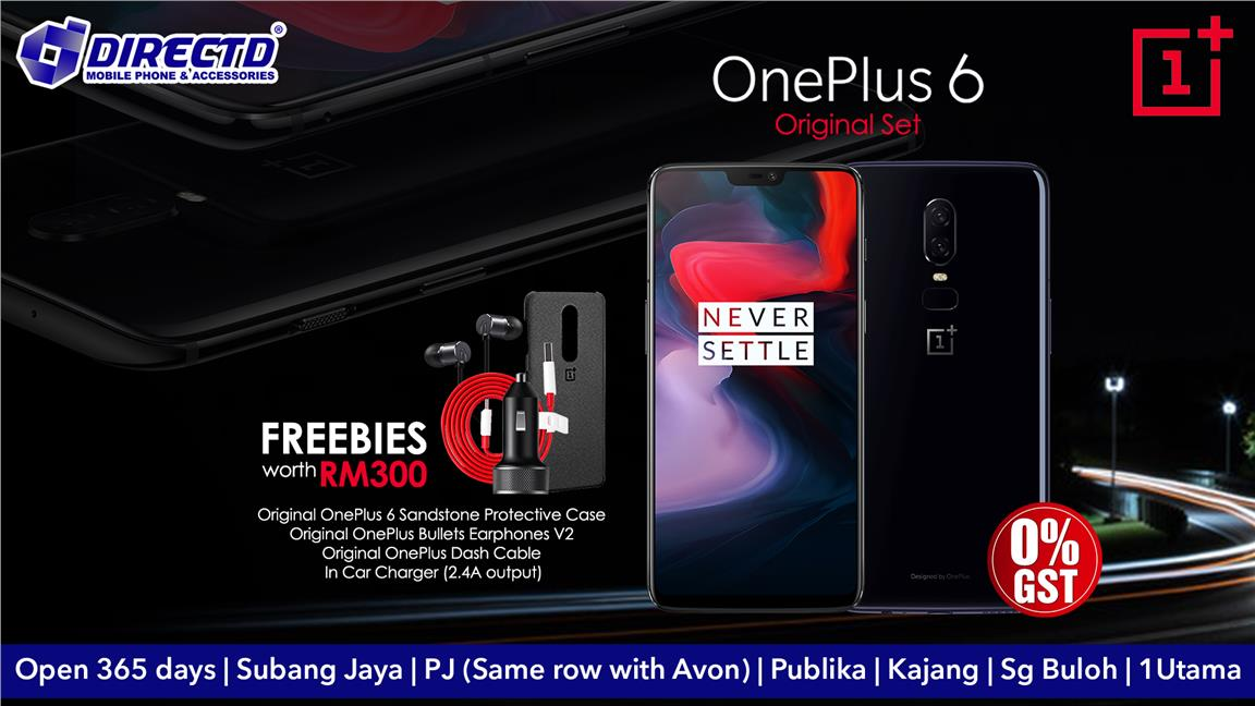 ONEPLUS 6 (ORIGINAL SET) READY STOCK + FREEBIES WORTH RM300