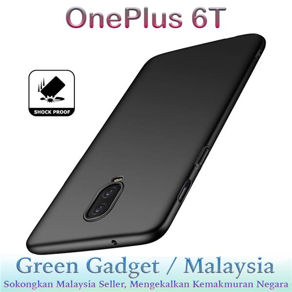 OnePlus 6T Case Cover Thin Fit Hard (Black)