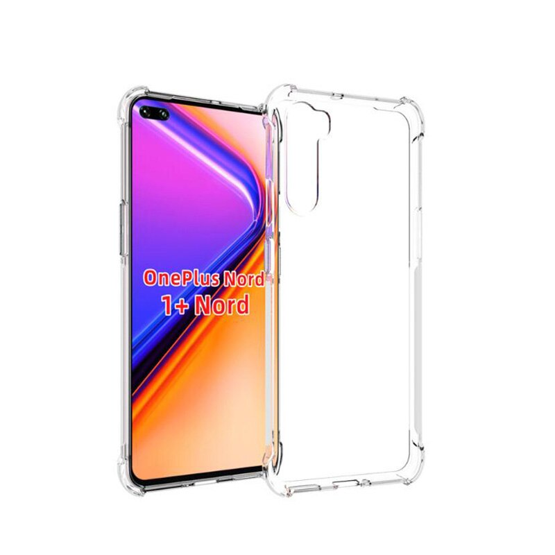 OnePlus Nord Soft Transparent Clear Airbag Shockproof Slim Bumper Case