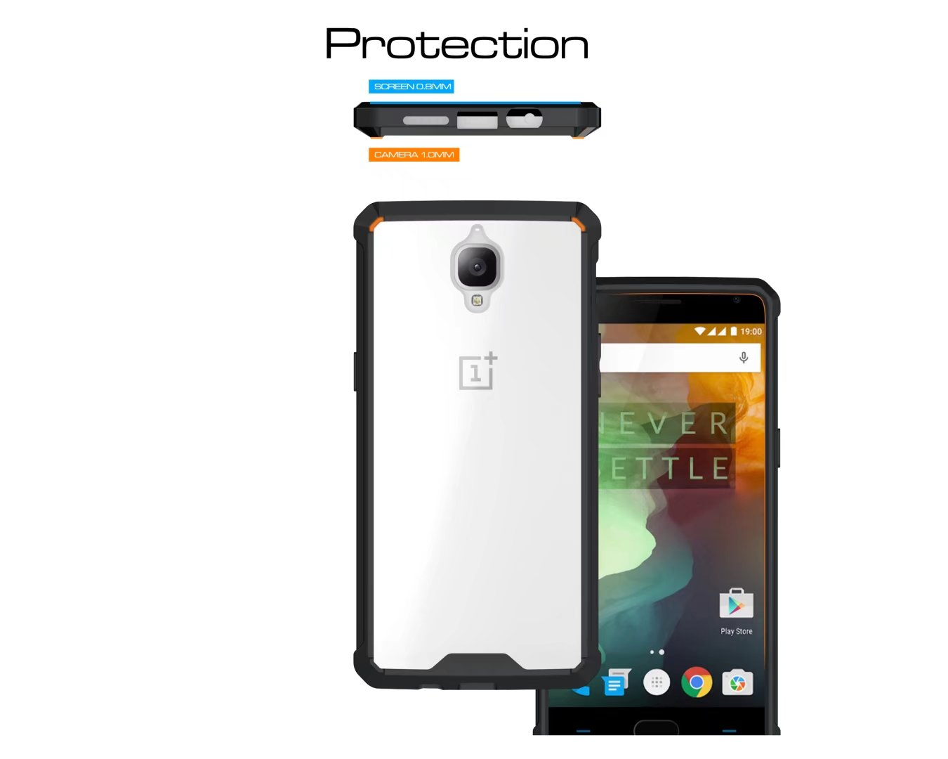 oneplus one plus 3 3T oneplus 3T UltraHybrid Armor Case Casing Cover