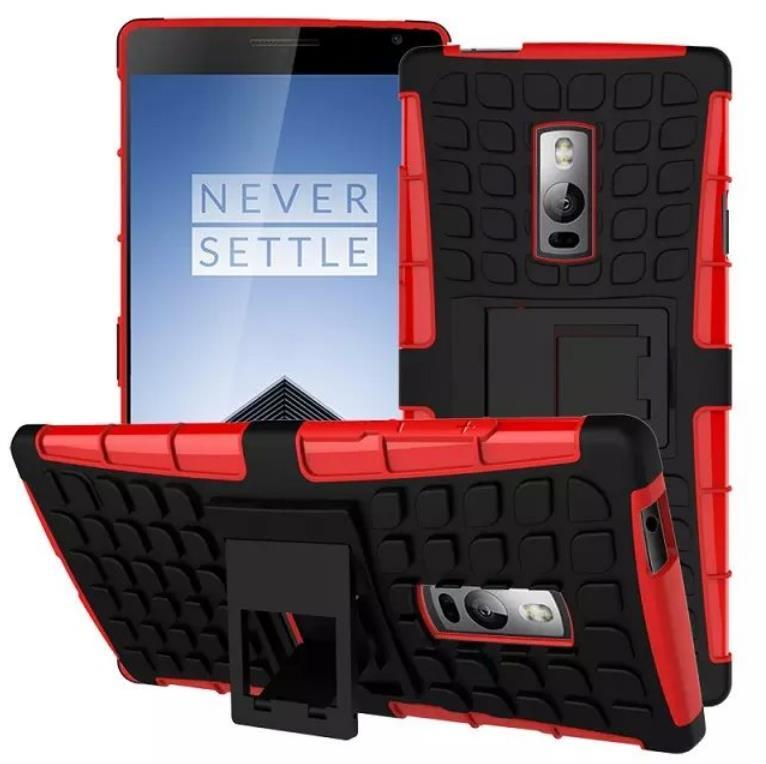 Oneplus One Plus Two 1+2 Tough Armor Kickstand Case Cover Casing +Gift