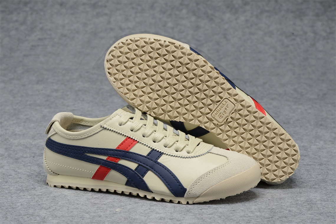 separation shoes c8946 7d451 red beige onitsuka tiger mexico 66 new shoes