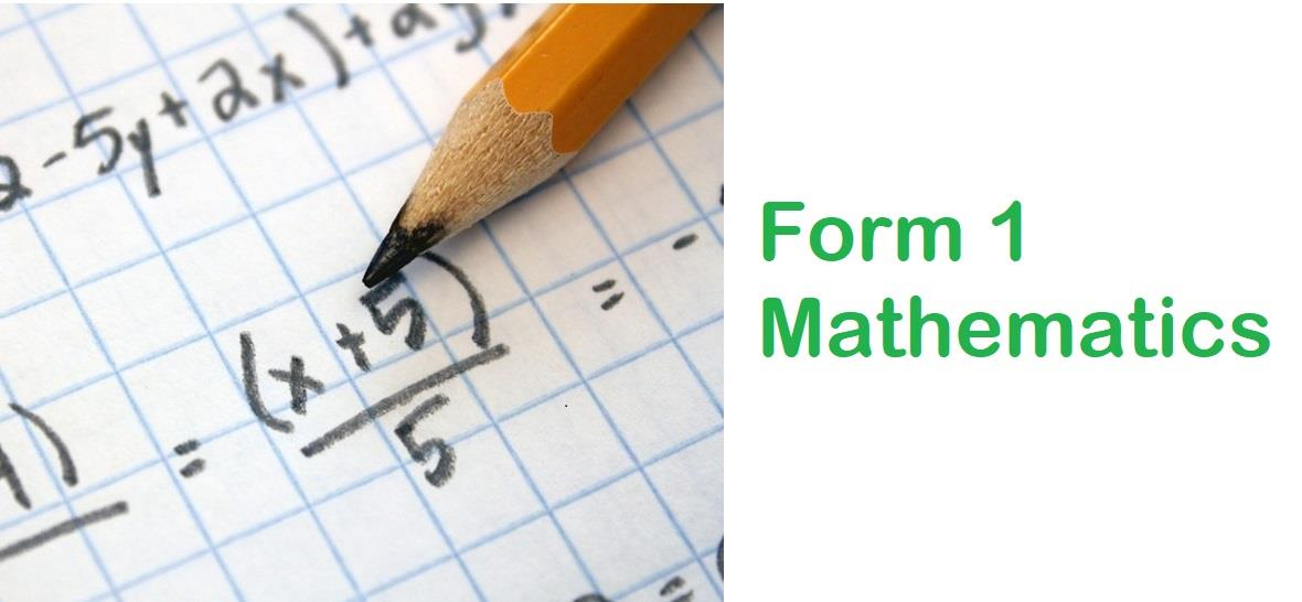 Online Mathematics Tuition Form 1 (end 12/10/2018 10:15 AM)