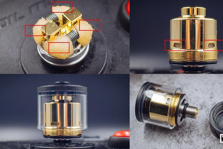 ONO e juice e liquid mod Vape - Original Cool Vapor LAVA RTA black