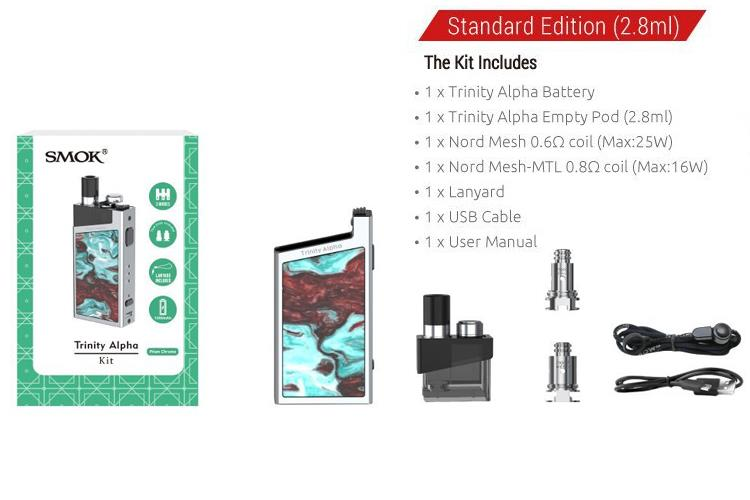 ONO - SMOK Trinity Alpha Resin Pod Kit 1000mAh
