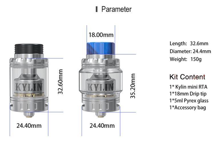 ONOVapor juice liquid vape mod - Vandy Vape Kylin Mini RTA clone