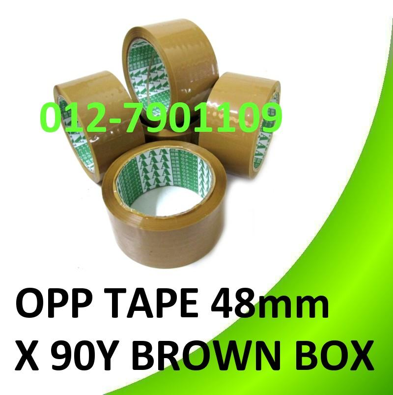 "*OPP TAPE 48mm (2"") * 90Yards Brown Box Sealing Packing Tape 3 rolls"