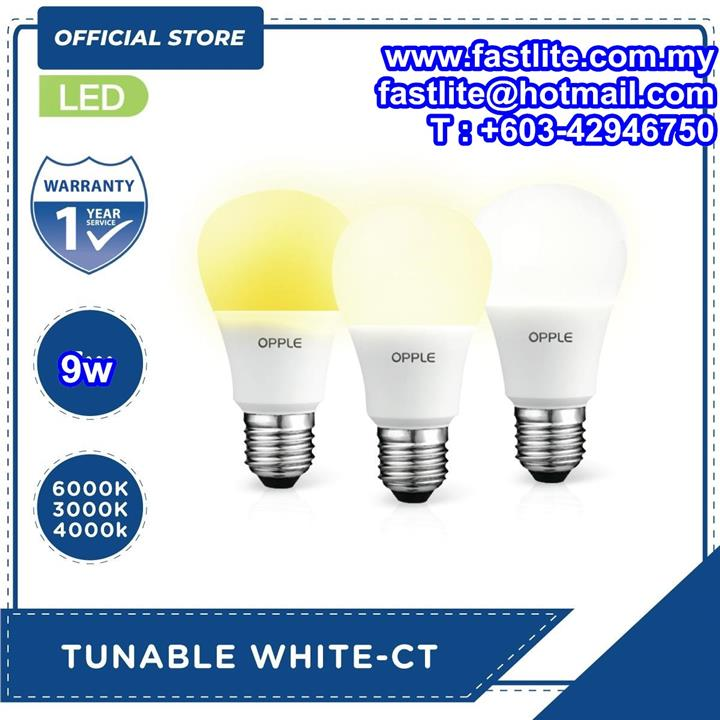 Opple LED A60 9W E27 Tunable bulb (3000K-4000K-6000K)