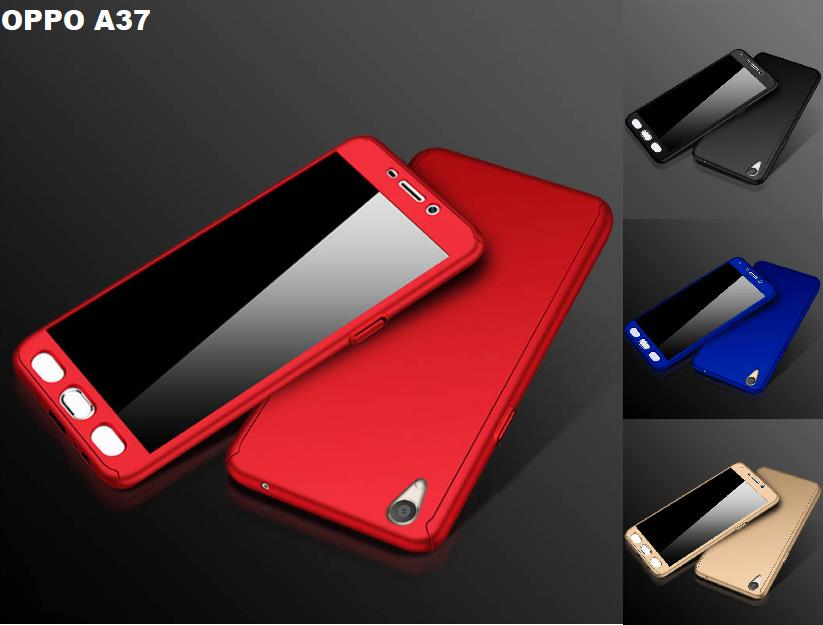 official photos 5f590 efeaf Oppo A37 360 Full Body Protection Case + Tempered Glass